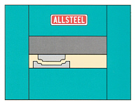 Full tonnage is available on ALLSTEEL machines with offset load